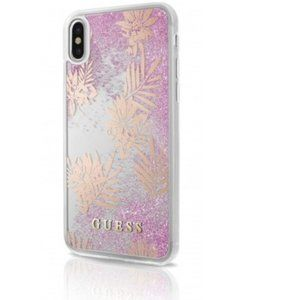 Guess/ iPhone Case (Pink Glitter, iphone X)